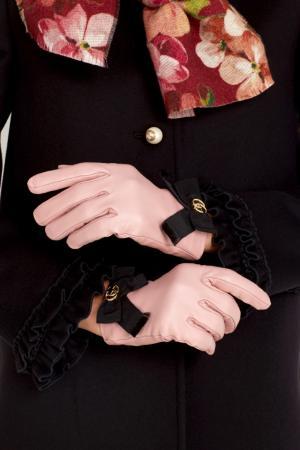 Кожаные перчатки Gucci. Цвет: none