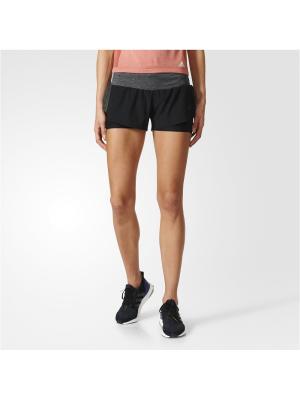 Шорты спортивные жен. ULT RGY SHORT W Adidas. Цвет: черный