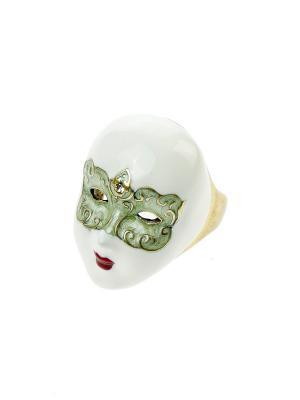 Кольцо Bijoux Land. Цвет: белый, оливковый