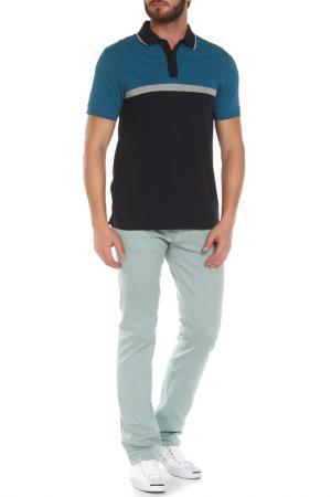 Рубашка-поло Z Zegna. Цвет: бирюзовый, темно-синий