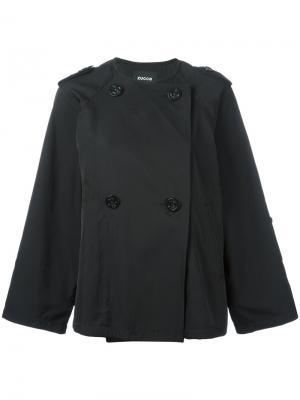 Двубортная куртка Zucca. Цвет: чёрный