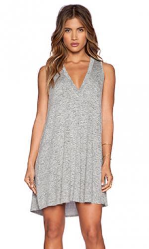 Платье-футляр daley Riller & Fount. Цвет: серый