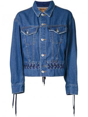 Джинсовая куртка со шнуровкой G.V.G.V.. Цвет: синий