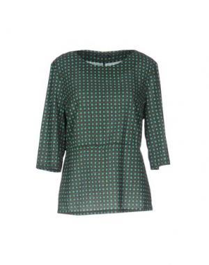 Блузка LAURA URBINATI. Цвет: зеленый-милитари
