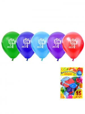 Набор воздушных шаров А М Дизайн. Цвет: синий, голубой, зеленый, красный, фиолетовый