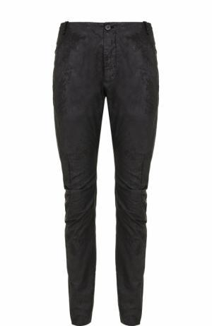 Хлопковые брюки с заниженной линией шага Masnada. Цвет: черный