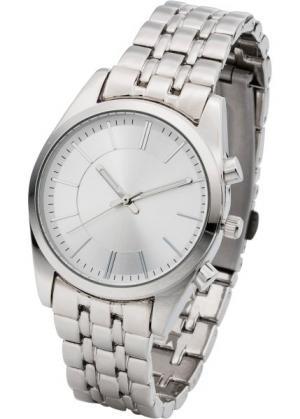 Наручные часы с металлическим браслетом (серебристый/серебристый) bonprix. Цвет: серебристый/серебристый