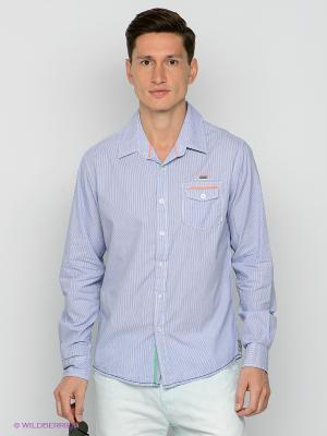 Рубашка Mezaguz. Цвет: синий, белый