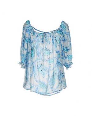 Блузка MOSAIQUE. Цвет: синий