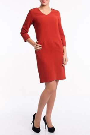 Платье MoNaMod. Цвет: коричневый