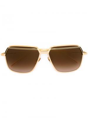 Солнцезащитные очки Dirty 7 Frency & Mercury. Цвет: металлический