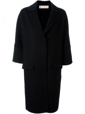 Пальто с рукавами три четверти Marni. Цвет: чёрный