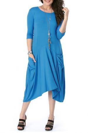 Платье VALERIA FRATTA. Цвет: синий
