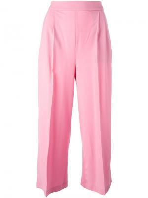 Укороченные широкие брюки MSGM. Цвет: розовый и фиолетовый