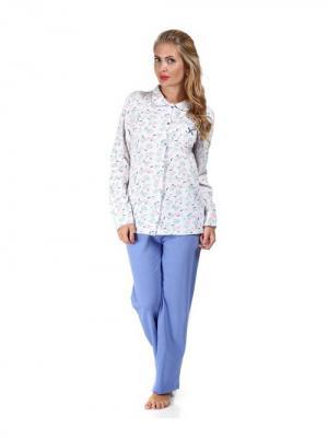 Комплект (кофта+брюки) CTMstyle. Цвет: лазурный