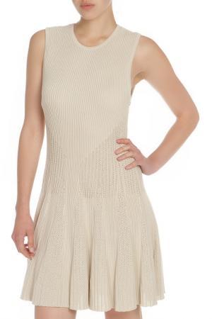 Платье ALICE+OLIVIA. Цвет: бежевый