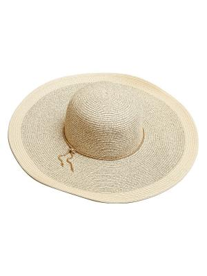 Шляпа Aiyony Macie. Цвет: бежевый, золотистый, серый