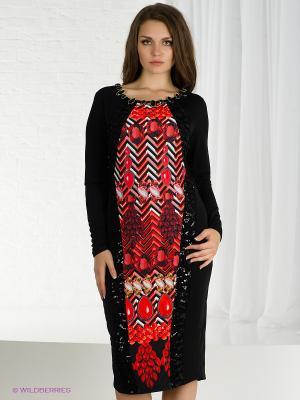 Платье VERDA. Цвет: черный, красный, розовый