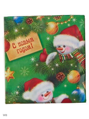 Скатерть С новым годом снеговики А М Дизайн. Цвет: синий, лазурный, зеленый, светло-зеленый, красный, золотистый, персиковый, белый