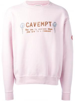 Топ с вышивкой слогана C.E.. Цвет: розовый и фиолетовый