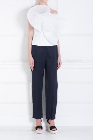Хлопковые брюки Delpozo. Цвет: синий