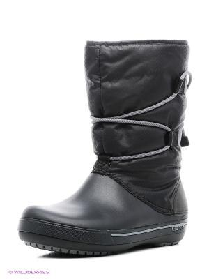 Сапоги CROCS. Цвет: черный