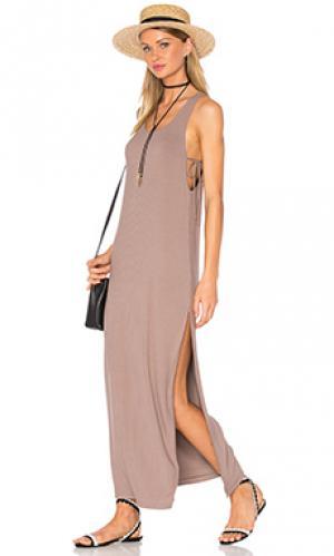Платье peale Privacy Please. Цвет: серо-коричневый