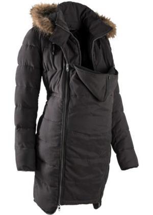 Мода для беременных и молодых мам: куртка с карманом-вкладкой малыша (кремовый) bonprix. Цвет: кремовый