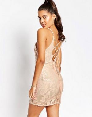 Love Triangle Платье мини для вечеринок. Цвет: розовый