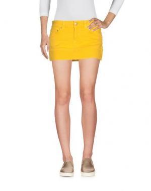 Джинсовая юбка DONDUP. Цвет: желтый