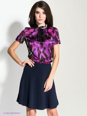 Блузка MICHELLE WINDHEUSER. Цвет: черный, коричневый, сиреневый