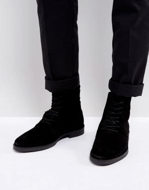Zign Замшевые ботинки на шнуровке. Цвет: черный