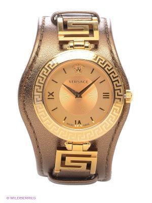 Часы Versace. Цвет: золотистый, коричневый