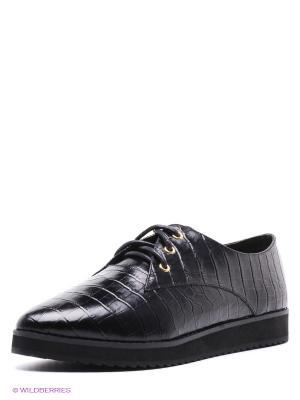 Ботинки Strange. Цвет: черный
