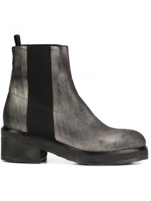 Ботинки на каблуке Chuckies New York. Цвет: серый