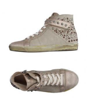 Высокие кеды и кроссовки JANET SPORT. Цвет: бежевый