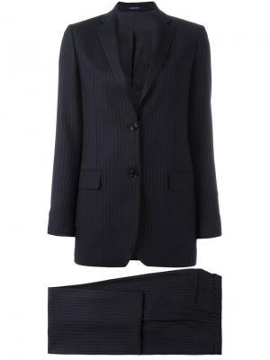 Пиджак в тонкую полоску Tagliatore. Цвет: синий
