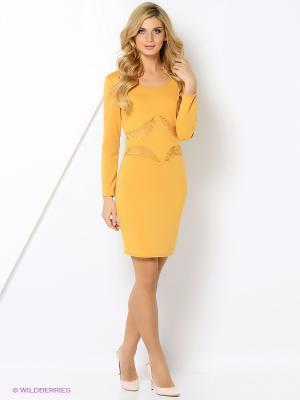 Платье ZAYKINS. Цвет: желтый