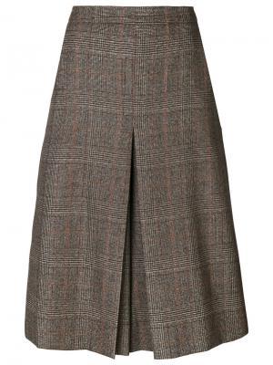 Твидовая юбка со складками Veronique Branquinho. Цвет: серый