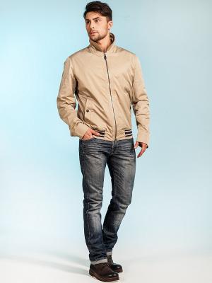 Куртка ODRI. Цвет: бежевый