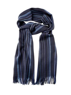 Шарф GREG. Цвет: черный, голубой, темно-синий