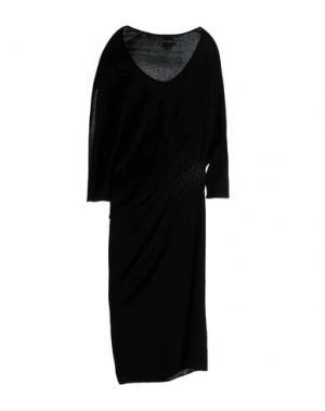 Платье длиной 3/4 PAOLO ERRICO. Цвет: черный