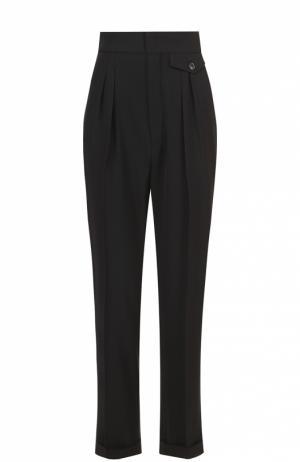 Укороченные брюки с защипами и завышенной талией Isabel Marant. Цвет: черный