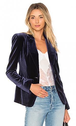 Бархатный пиджак NICHOLAS. Цвет: синий