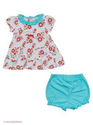 Комплект одежды Baby Club. Цвет: красный, бирюзовый