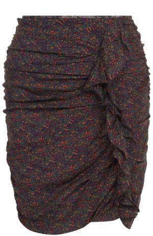 Мини-юбка с принтом и драпировкой Isabel Marant Etoile. Цвет: разноцветный