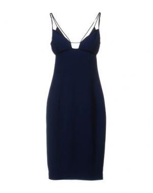 Платье до колена GAI MATTIOLO. Цвет: темно-синий