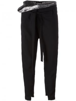 Зауженные брюки свободного кроя Ann Demeulemeester. Цвет: чёрный