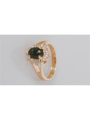 Кольцо Нефрит Lotus Jewelry. Цвет: зеленый