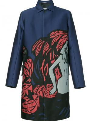 Пальто Pandaemonium Oamc. Цвет: синий